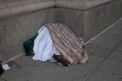 Homeless on the streets of Chicago